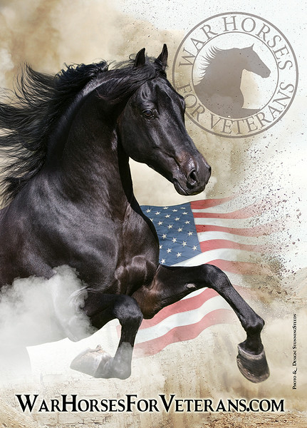 5x7 Banner - War Horses For Veterans (Morgan)