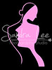 lady logo pink on black