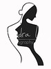 lady logo black sharp