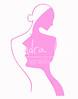 lady logo pink