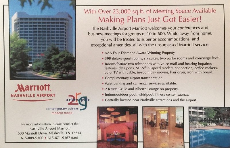 Nashville Airport Marriott 2rg Ad