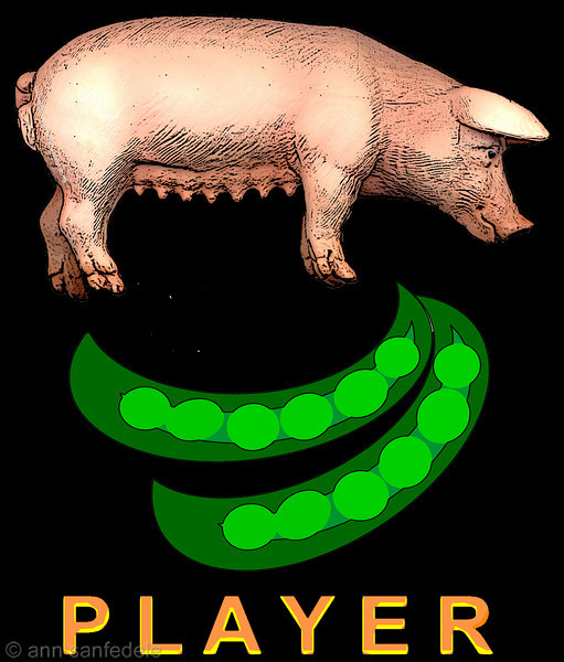 Sowpods Player design for dark t-shirts. New design as of May 2008. Remember when we called it that??