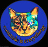 Cattitude IS everything :-) New Round design for selected items I'm selling on cafepress....<p> http://www.cafepress.com/annsanstuff/542492
