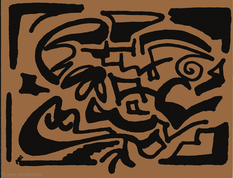 Design I made years ago for note cards... this scan was messed around with in photoshop to get to the next 4 designs you see here.