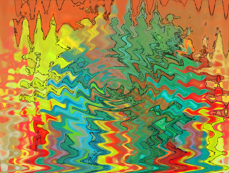 crazy wild abstract
