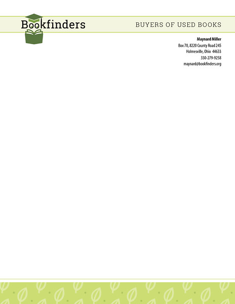Bookfinders Letterhead