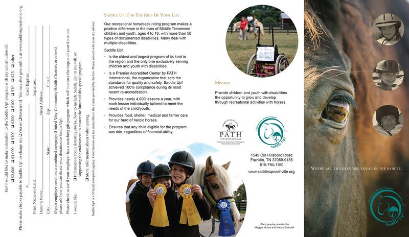 Saddle Up! Marketing Brochure
