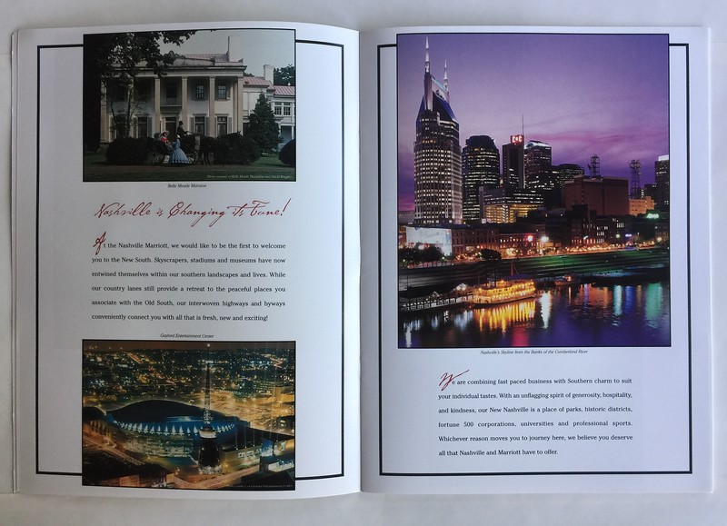 Nashville Airport Marriott Brochure Spread