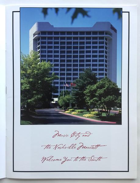 Nashville Airport Marriott Brochure, page 1