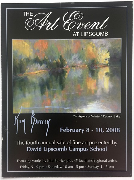 David Lipscomb Art Event Postcard