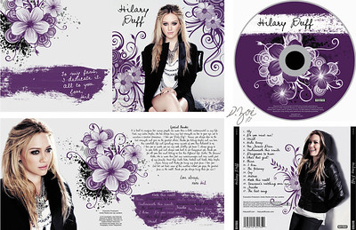 Re-Design of a CD, booklet and cover (Photoshop) 2010