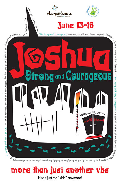 Joshua VBS Logo on Brochure Cover