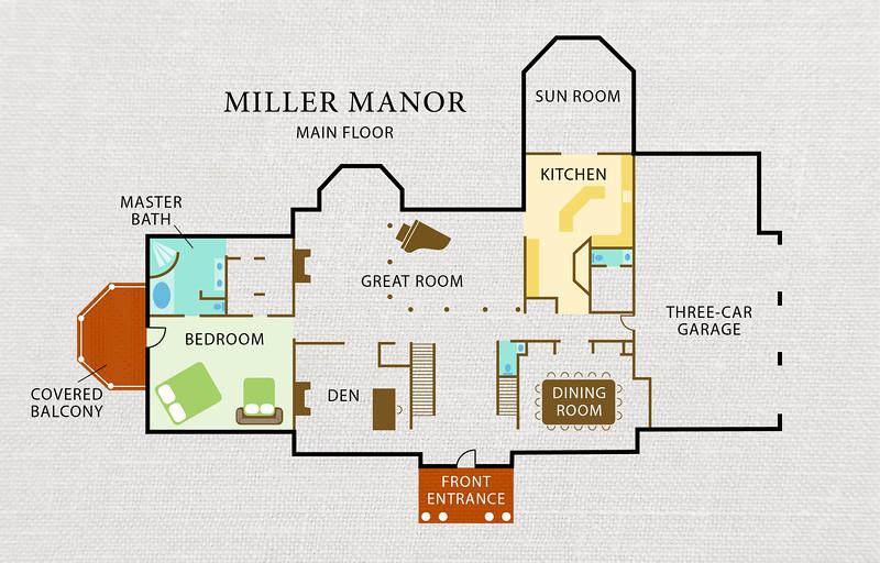 Miller Manor - VRBO House Diagram