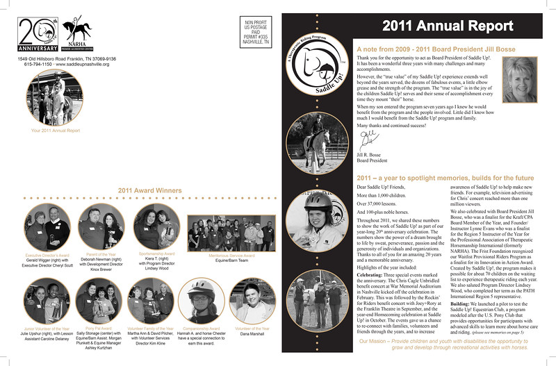 Saddle Up! 2011 Annual Report (outside)