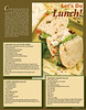 Sample recipe article layout for a 32 page full color magazine.