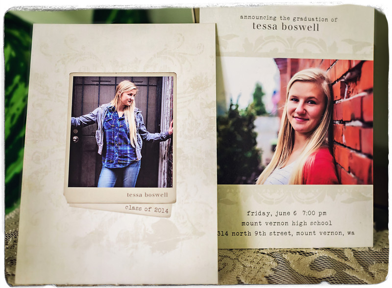 5x7 Graduation Announcement