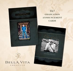 5x7 Graduation Announcement