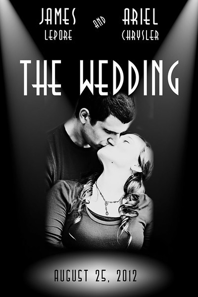 Custom Wedding Movie Poster