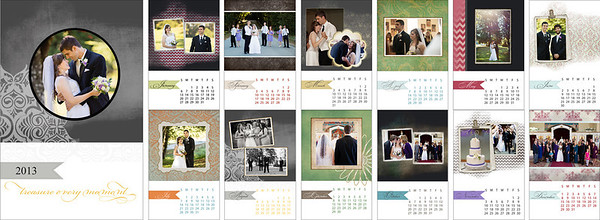 Spiral-Bound Custom Wedding Calendar