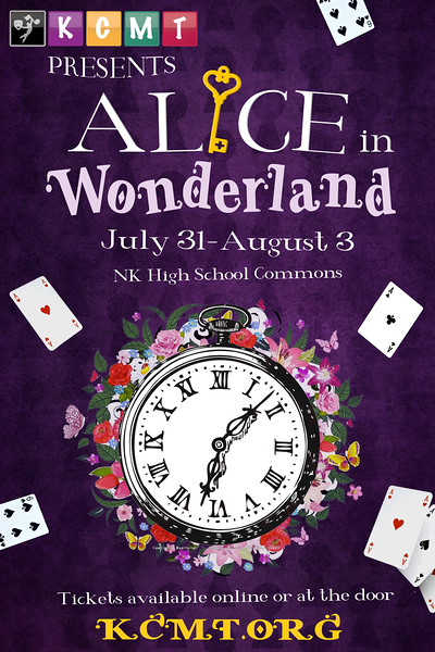 "Poster concept for Kitsap Children's Musical Theatre's production of ""Alice in Wonderland""."