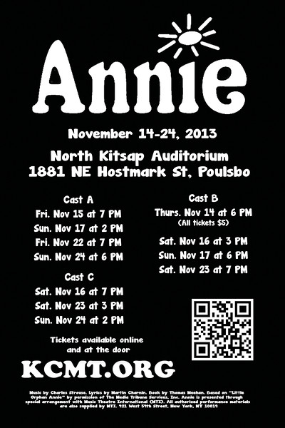 """Annie"" postcard backside, 2013."