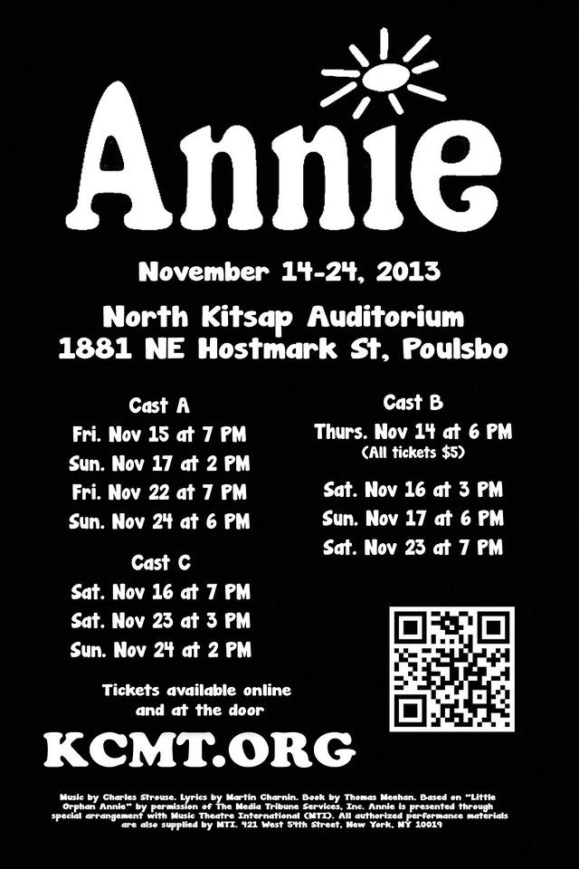 """Annie"" postcard backside, 2013."