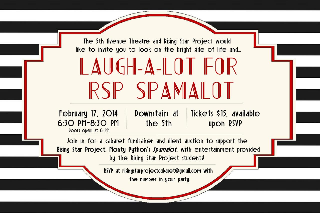 Invitation to The 5th Avenue Theatre's cabaret fundraiser, 2013.