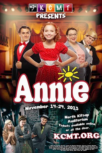 "Kitsap Children's Musical Theatre's ""Annie"" poster, 2013."