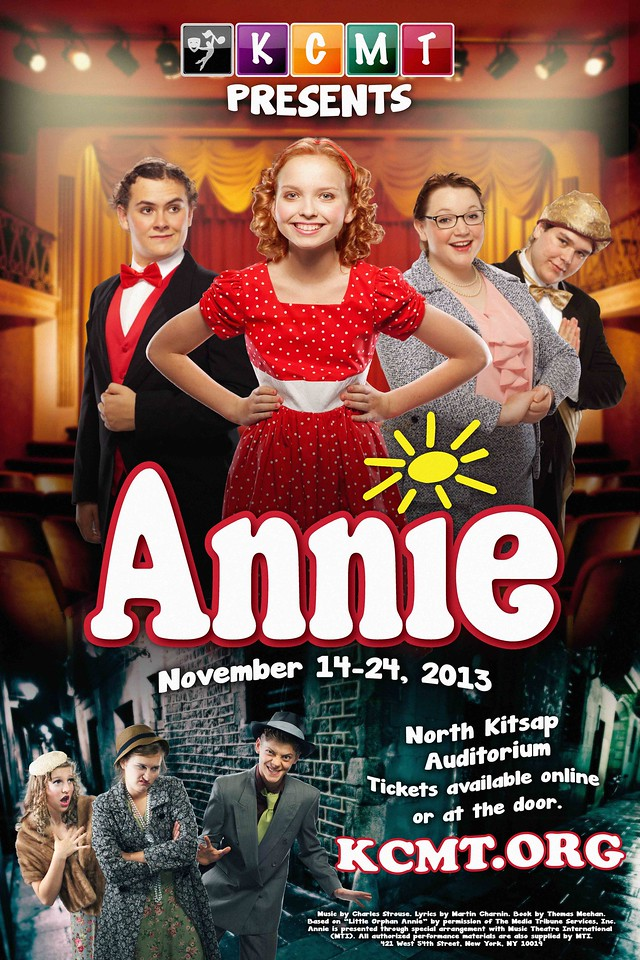 "Kitsap Children's Musical Theatre's ""Annie"" poster, 2013."