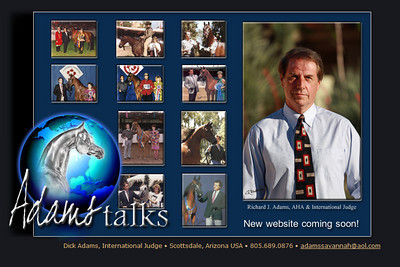 //www.adamstalks.com Equine Marketing, Promotion & Consulting International Judge