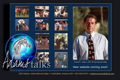 //www.adamstalks.com Equine Marketing, Promotion & Consulting International Judge