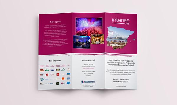 Intense DMC events agency brochure design