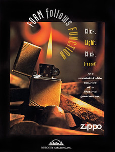 Ad for Zippo lighters