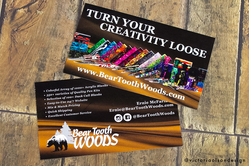 Bear Tooth Woods Business Card Design