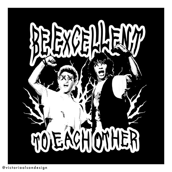 Bill and Ted - Punk Design