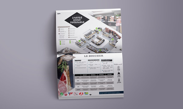 """Compass Group's presentation booklet for """"Les Nouveaux Artisans"""", one of their main culinary offers"""
