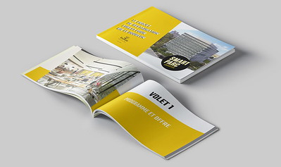 Compass Group's tender presentation booklet for Smart Parc building