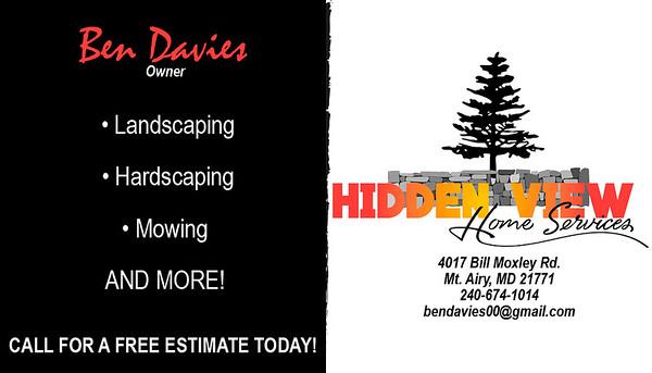 Hidden View Business Cards