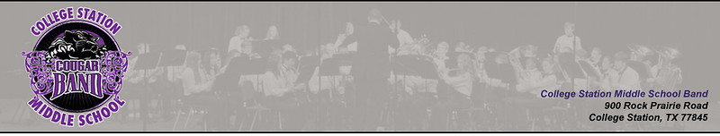 CSMS Band Website Header