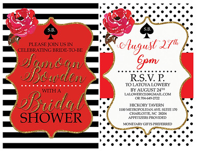 Bridal shower invitation composite