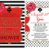Bridal shower invitation composite