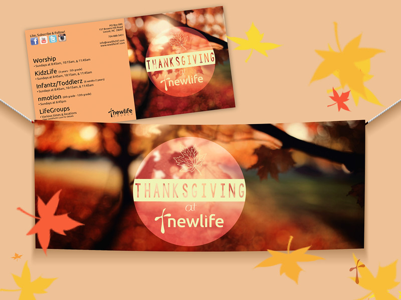 NewLife Thanksgiving Series Graphic, Series Folder & Banner