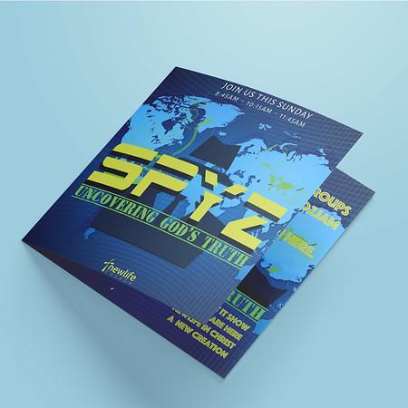 Spyz Series Graphic Folder Brochure