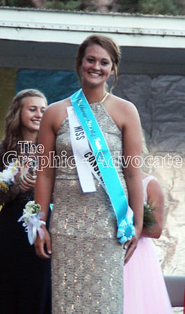 Allie Berg was named the 2016 Calhoun County Queen Wednesday night at the Calhoun County Expo. GRAPHIC-ADVOCATE PHOTO/ERIN SOMMERS
