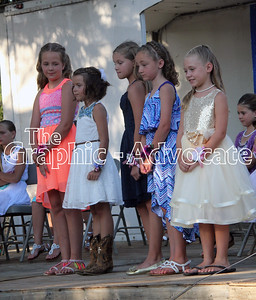 The top five Little Miss candidates are seen during Wednesday's contest. GRAPHIC-ADVOCATE PHOTO/ERIN SOMMERS