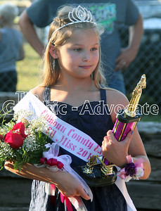 Brooke Evans was named the 2016 Calhoun County Little Miss at the Calhoun County Expo Wednesday night. GRAPHIC-ADVOCATE PHOTO/ERIN SOMMERS