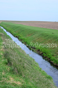 A drainage ditch is seen in Calhoun County April 23. GRAPHIC-ADVOCATE PHOTO/ERIN SOMMERS