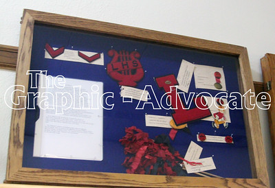 Lohrville High School memorabilia is now on display at the Calhoun County Museum. GRAPHIC-ADVOCATE PHOTO/ERIN SOMMERS