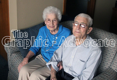 Mary and Dale Sexton are seen at their Sunnyview apartment Friday. The couple celebrated their 70th wedding anniversary Jan. 4. GRAPHIC-ADVOCATE PHOTO/ERIN SOMMERS