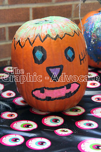 A pumpkin is seen on display in Lohrville Sunday afternoon. GRAPHIC-ADVOCATE PHOTO/ERIN SOMMERS